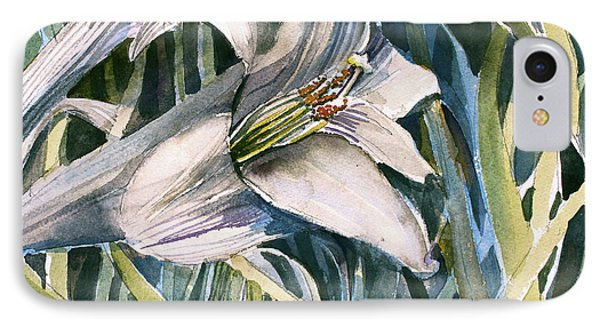 IPhone Case featuring the painting An Easter Lily by Mindy Newman