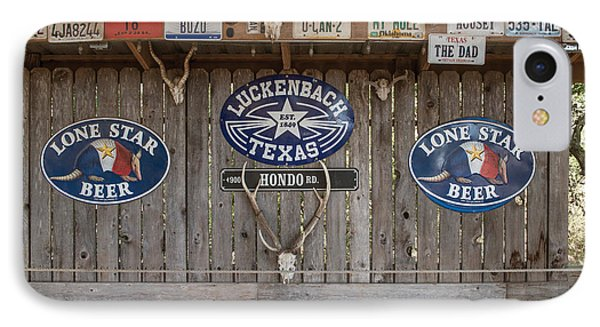 An Eclectic Display In Luckenbach IPhone Case