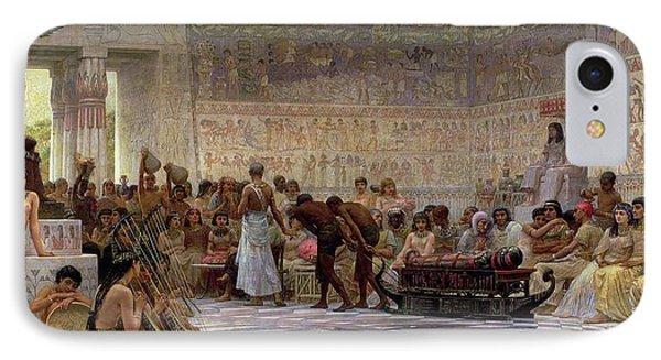 An Egyptian Feast IPhone Case by Edwin Longsden Long