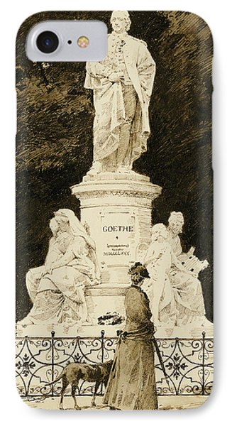 An Elegant Lady At The Statue Of Goethe IPhone Case