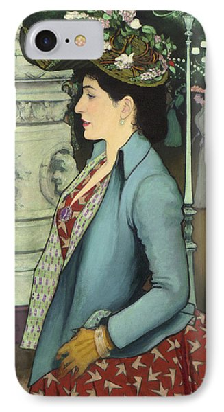 An Elegant Woman At The Elysee Montmartre IPhone Case by Louis Anquetin