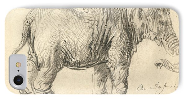 An Elephant IPhone Case by Rembrandt