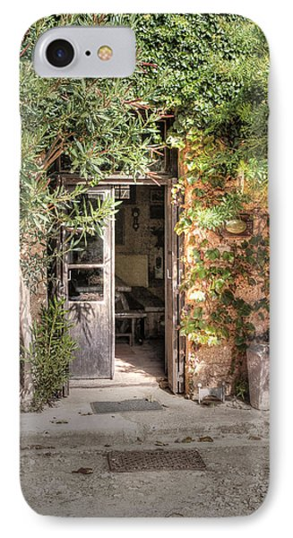 IPhone Case featuring the photograph An Entrance In Santorini by Tom Prendergast