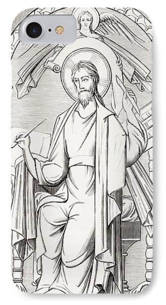 An Evangelist Writes A Sacred Text And IPhone Case by Vintage Design Pics