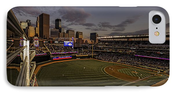 An Evening At Target Field IPhone Case by Tom Gort