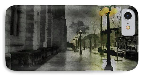 IPhone Case featuring the mixed media An Evening In Paris by Jim  Hatch