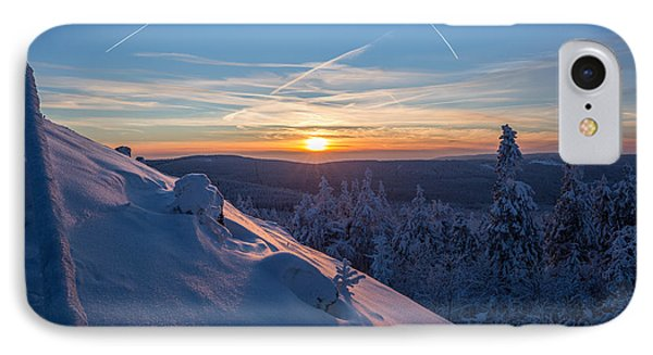 an evening on the Achtermann, Harz IPhone Case by Andreas Levi