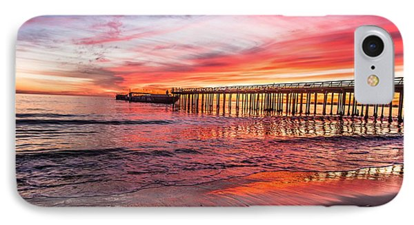 Seacliff Sunset IPhone Case by Lora Lee Chapman