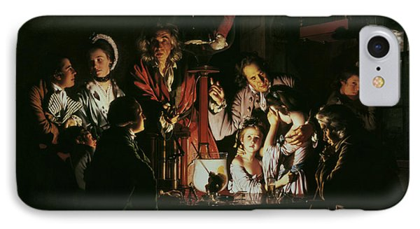 An Experiment On A Bird In The Air Pump IPhone Case by Joseph Wright of Derby