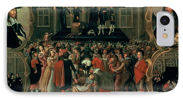 Punishment iPhone 7 Case - An Eyewitness Representation Of The Execution Of King Charles I by John Weesop