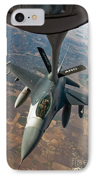 An F-16 Fighting Falcon Receiving Fuel Phone Case by Stocktrek Images