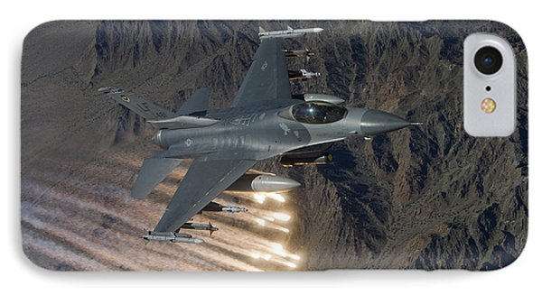 An F-16 Fighting Falcon Releases Flares Phone Case by HIGH-G Productions