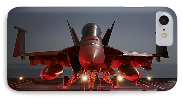 An Fa-18f Super Hornet Parked IPhone Case