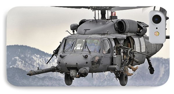 An Hh-60 Pave Hawk Helicopter In Flight Phone Case by Stocktrek Images
