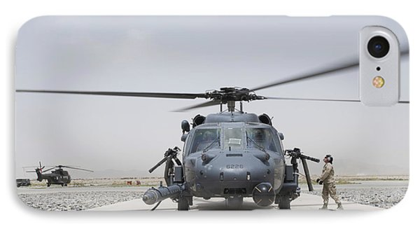 An Hh-60 Pave Hawk Lands After A Flight Phone Case by Stocktrek Images