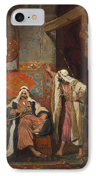An Idle Conversation, 1872 IPhone Case by Arnold Corrodi