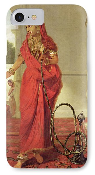 An Indian Dancing Girl With A Hookah IPhone Case by Tilly Kettle