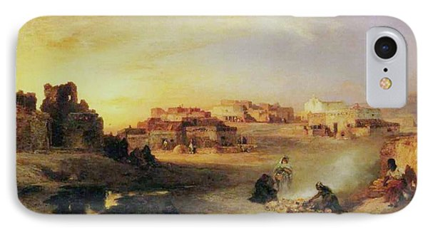 An Indian Pueblo IPhone Case by Thomas Moran