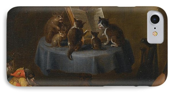 An Interior Scene With Cats IPhone Case