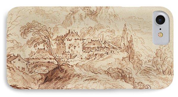 An Italian Village In A Mountainous Landscape IPhone Case