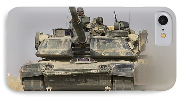 An M1a1 Abrams Tank Heading Phone Case by Stocktrek Images