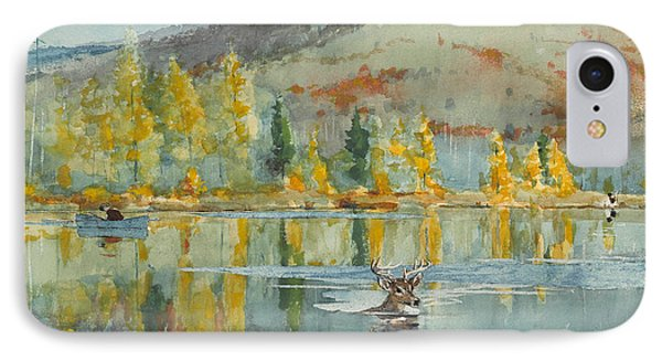 IPhone Case featuring the painting An October Day by Winslow Homer