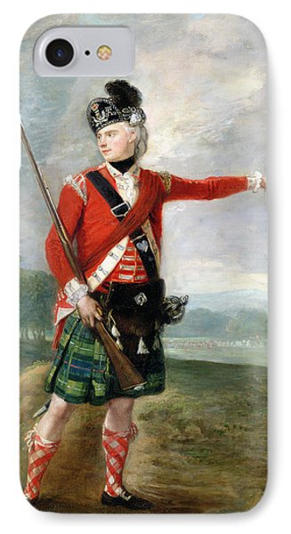 An Officer Of The Light Company Of The 73rd Highlanders IPhone Case by Scottish School