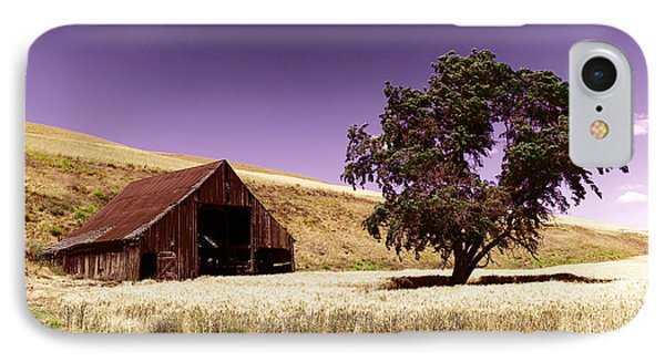 An Old Barn And A Tree IPhone Case by Jeff Swan