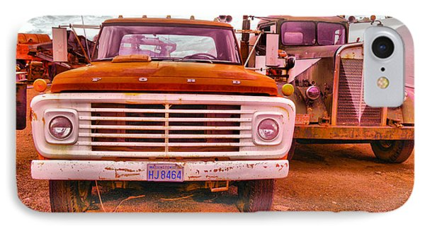 IPhone Case featuring the photograph An Old Ford And Kenworth by Jeff Swan