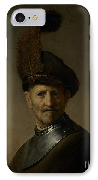 An Old Man In Military Costume By Rembrandt Harmensz. Van Rijn  IPhone Case by Esoterica Art Agency