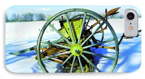 An Old Rake In The Snow IPhone Case by Jeff Swan
