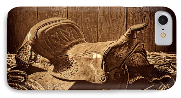 An Old Saddle IPhone Case by American West Legend By Olivier Le Queinec