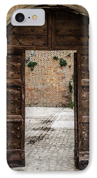 An Old Wooden Door 2 IPhone Case by Andrea Mazzocchetti