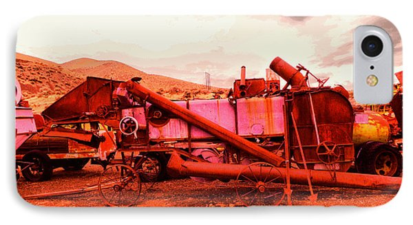 IPhone Case featuring the photograph An Old Rusty Harvestor by Jeff Swan