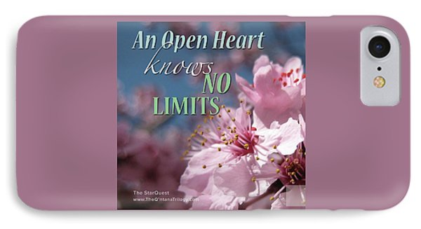 An Open Heart Knows No Limits IPhone Case by Mark David Gerson