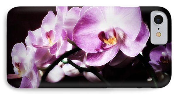 IPhone Case featuring the mixed media An Orchid For You by Gabriella Weninger - David
