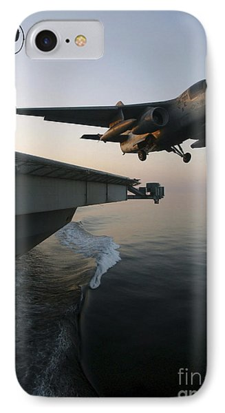 An S-3b Viking Clears The Flight Deck Phone Case by Stocktrek Images