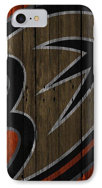 Anaheim Ducks Wood Fence IPhone Case by Joe Hamilton