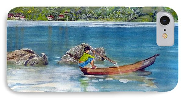 IPhone Case featuring the painting Anak Dan Perahu by Melly Terpening
