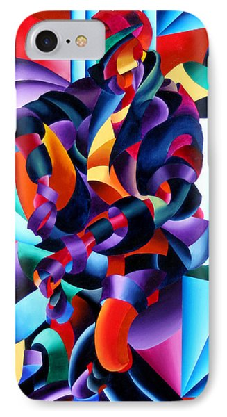 IPhone Case featuring the painting Anamorphosis From The Outside In by Mark Webster