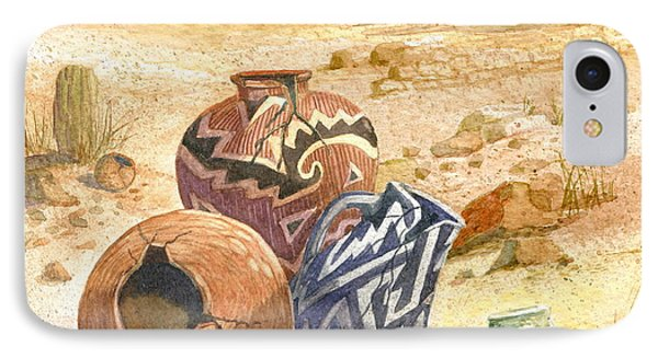 IPhone Case featuring the painting Anasazi Remnants by Marilyn Smith
