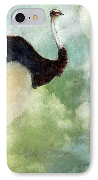 Ostrich iPhone 7 Case - Anastasia's Ostrich by Mindy Sommers