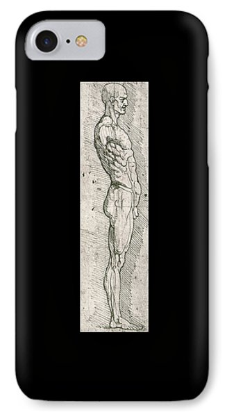 Anatomical Study IPhone Case by Leonardo Da Vinci