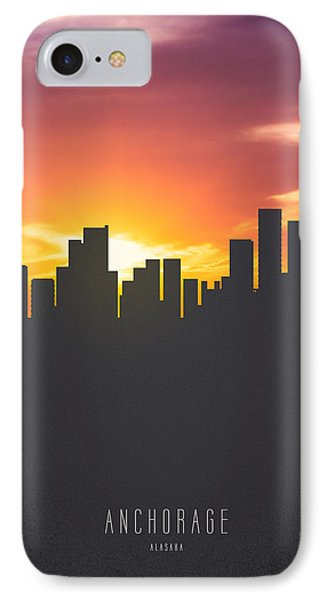 Anchorage Alaska Sunset Skyline 01 IPhone Case