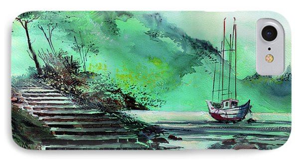 IPhone Case featuring the painting Anchored by Anil Nene