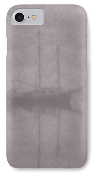 Anchored In Fog #1 IPhone Case by Wally Hampton