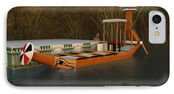 Ancient Egypt Leisure Boat IPhone Case by Leone M Jennarelli