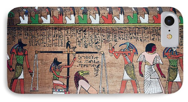 Ancient Egypt Underworld Court Of Final Judgement IPhone Case by Daniel Hagerman