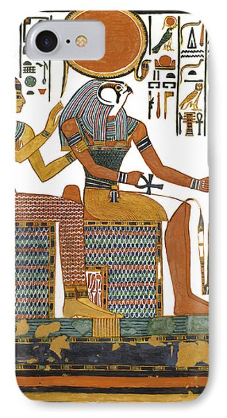 Ancient Egyptian Gods Hathor And Re Phone Case by Ben  Morales-Correa