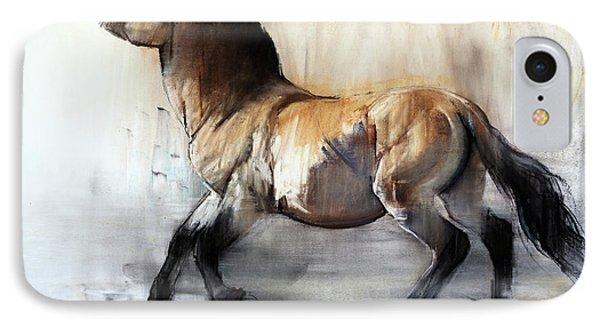 Ancient Horse Przewalski In Winter IPhone Case